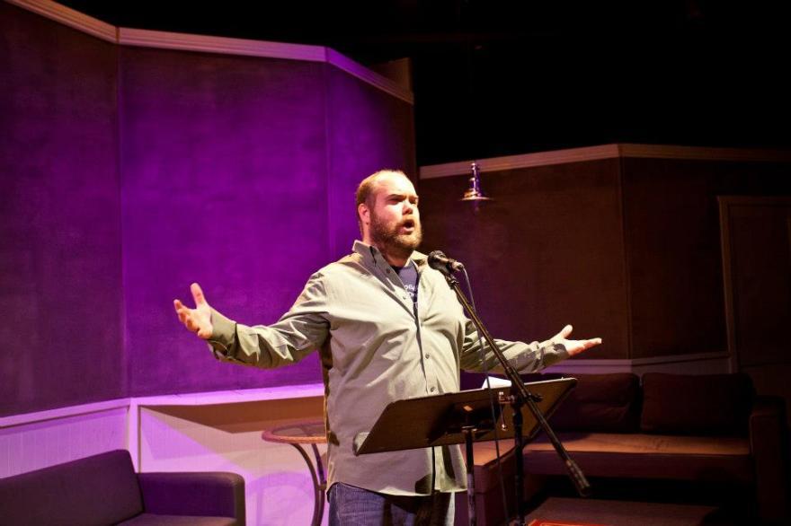 Matt on Stage